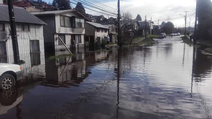 Inundación calle Los Alpes - Diario Puerto Varas