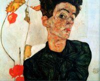 Egon Schiele autoretrato 1912 - Ciclo de Cine y Artistas en Galería de Arte Bosque Nativo - Diario Puerto Varas