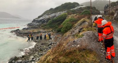 Derrame en Magallanes - Fotografía de El Regionalista - Diario Puerto Varas