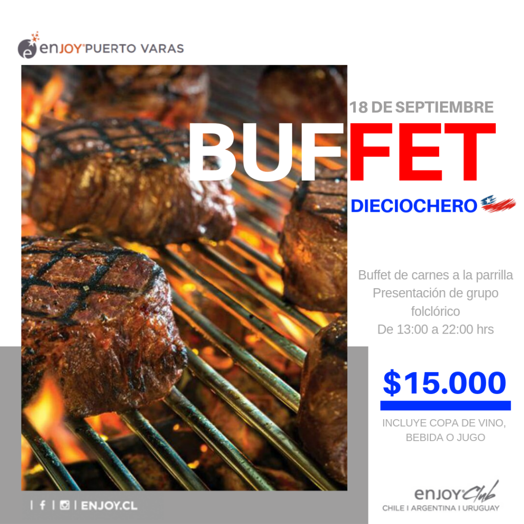 Buffet Hotel Enjoy Puerto Varas - Diario Puerto Varas