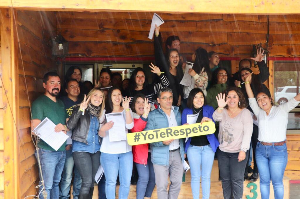 Seremi de Gobierno difunde campaña Yo te respeto con funcionarios de la Municipalidad de Palena - Diario Puerto Varas