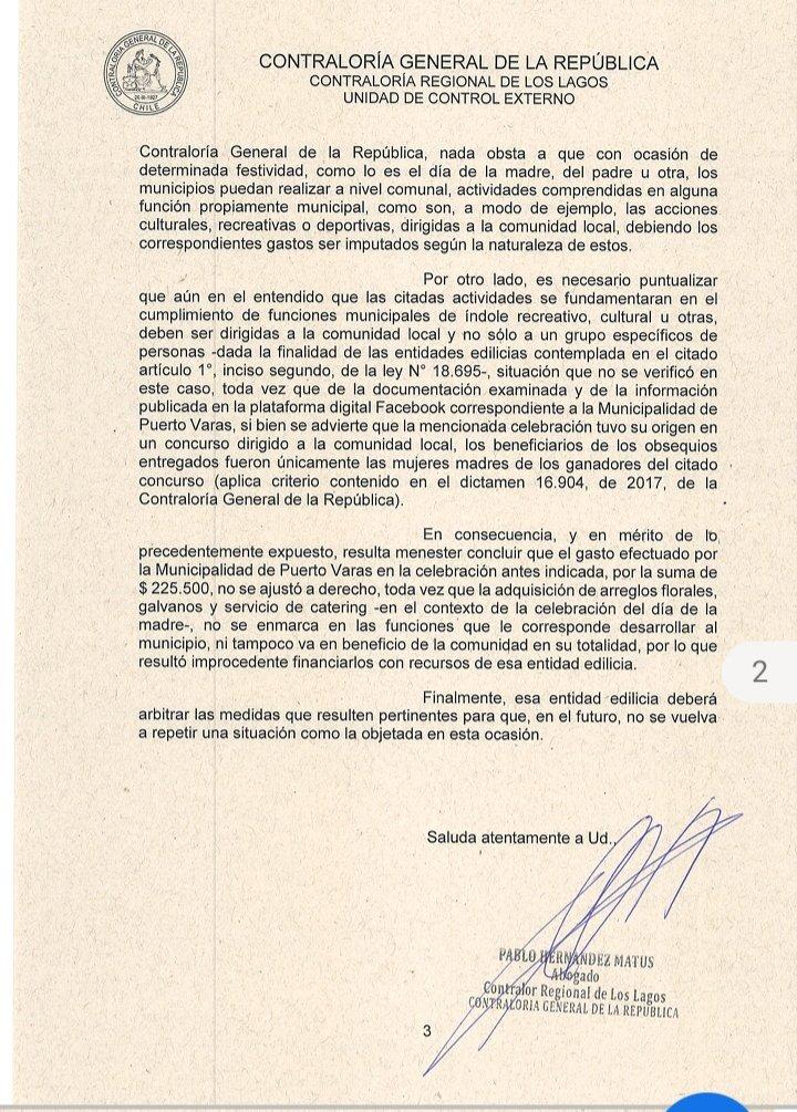 Dictamen de Contraloría - Diario Puerto Varas