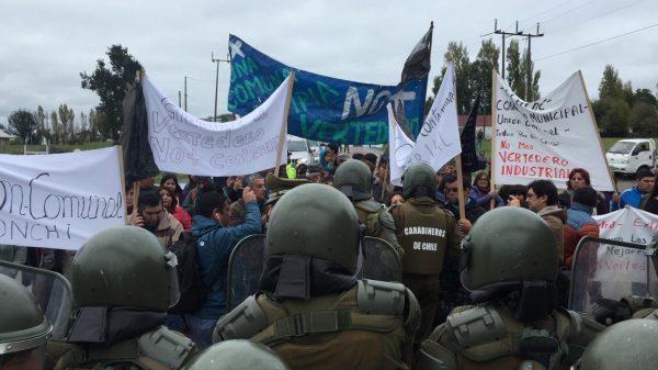 Protestas por vertedero de Chonchi - Diario Puerto Varas